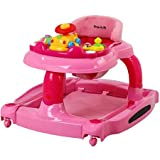 Dream On Me 2-in-1 Baby Tunes Musical Activity Walker and Rocker with 3-Position Height Adjustment and Removable Toy Tray