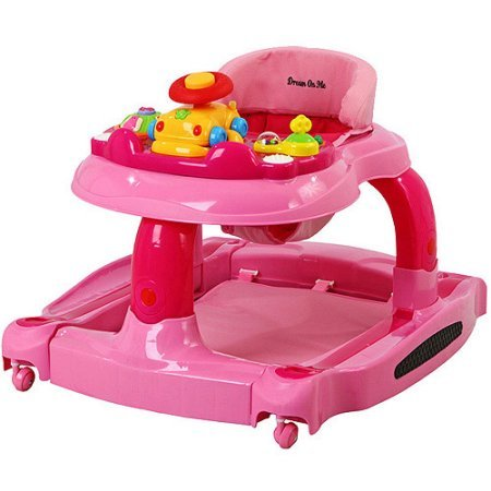 Dream On Me 2-in-1 Baby Tunes Musical Activity Walker and Rocker with 3-Position Height Adjustment and Removable Toy (Jumper And Walker Combo Baby)