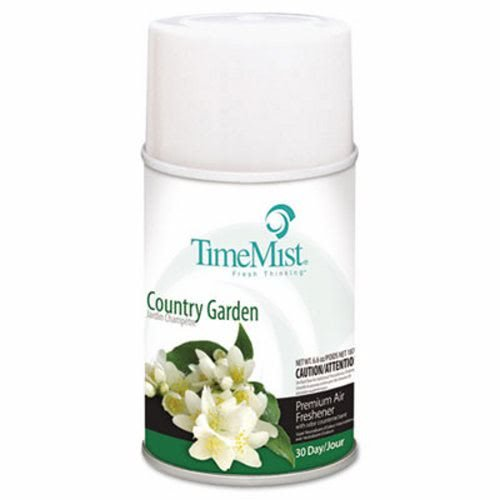 TimeMist Metered Fragrance Dispenser Refills, Country Garden, 6.6 oz - twelve 6.6 oz aerosol cans per case.