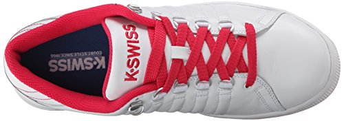 K-swiss Womens Lozan Iii Fashion Sneaker, Wit / Framboos, 5 M Ons