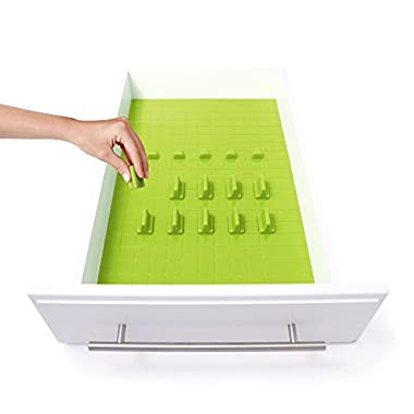 KMN Home DrawerDecor - Customizable Drawer Organizer, Starter Kit, Lime