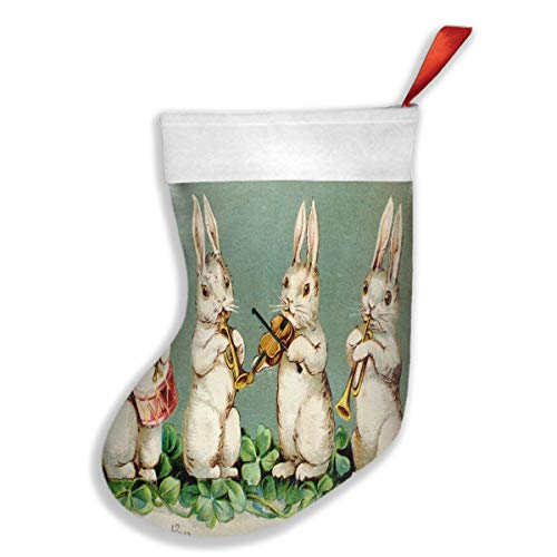 Feier-Custom Christmas Stockings Easter Musical Bunnies for sale  Delivered anywhere in Canada