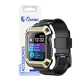 Ozone Watch Strap with Protective Case for Apple Watch 44mm Series 4 - Gold