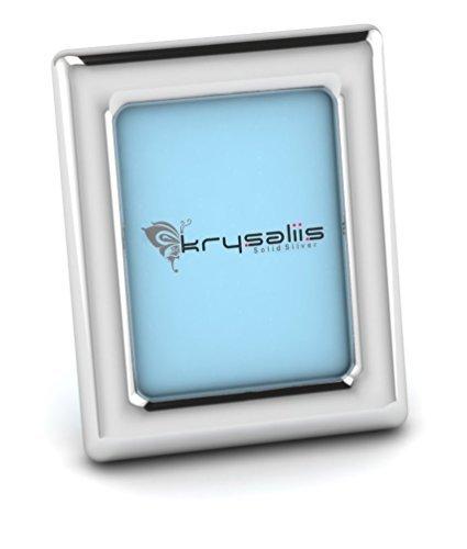 Krysaliis Sterling Silver Classic Rectangle Frame - Blue Stand [並行輸入品]   B077ZLMB3C