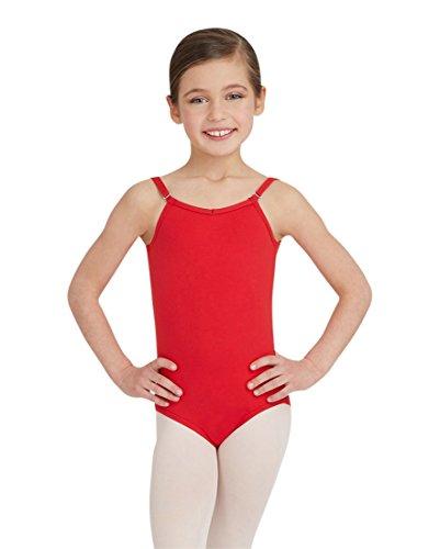Capezio Dance Girls' Camisole Leotard with Adjustable Straps,Red,US S