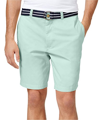 Club Room Mens Twill Belted Casual Shorts Green 36 from Club Room