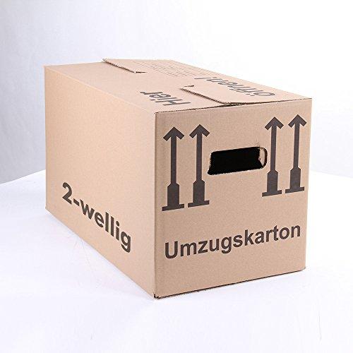 5 Umzugskartons Faltkartons Umzugskisten Movebox 2-wellig doppelter Boden Profi 600 x 330 x 340mm von A&G-heute