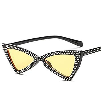 KLXEB Rine Töne Dreieck Sonnenbrillen Damen Sonnenbrillen, Buchse, Rot Schwarz Rosa Brille Uv400, Weiß