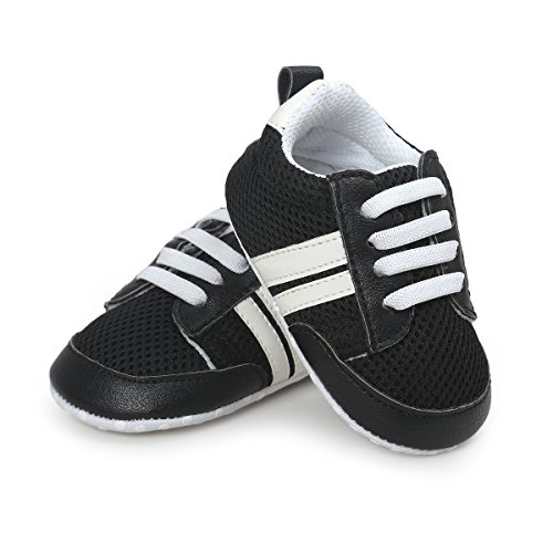 Save Beautiful Air Mesh Baby Shoes   Infant Boys Girls Summer Net Sneakers Crib Shoes  4 33Inches 0 6Months   Style A  Black1
