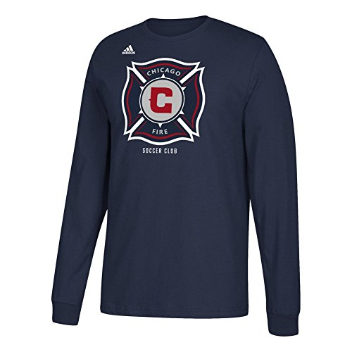fan products of adidas Chicago Fire Men's Long Sleeve T-Shirt (Medium)