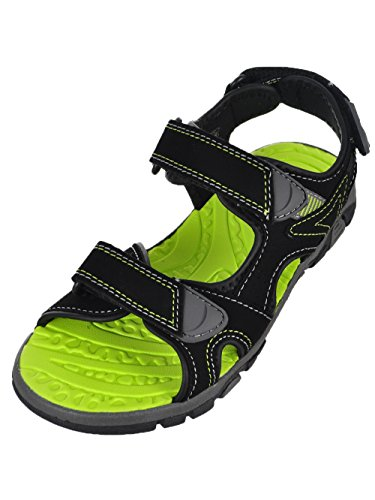 Image of Khombu Boys' River Sandal Black/Neon Green