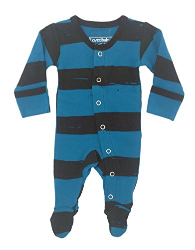 L'ovedbaby Unisex-Baby Organic Cotton Footed Overall (9-12 Months, Lake Painter's - Painter 10