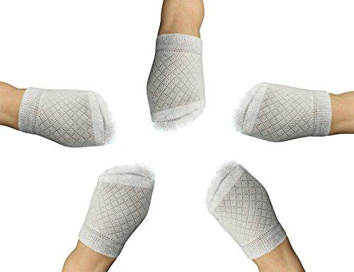 (Yomandamor Womens Bamboo 5 Pairs Breathable Toe Topper Socks with Cushion Bottom and Seamless Toe)