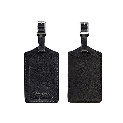 Travelambo Genuine Leather Luggage Bag Tags