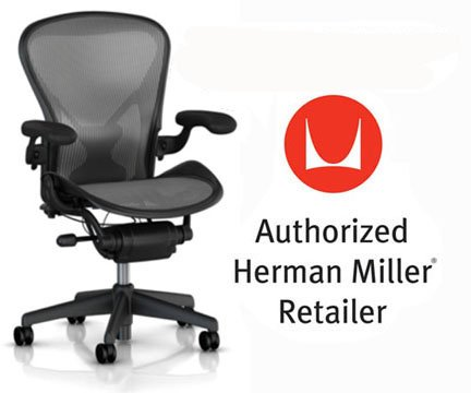 [Herman Miller Aeron Chair Highly Adjustable with PostureFit Lumbar Support and Black Leather Arms - Large Size (C) Graphite Dark Frame, Classic Platinum Pellicle Mesh Home Office Desk Task Chair] (Herman Miller Mesh Chair)