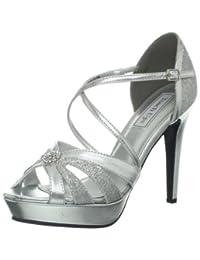 Touch Ups Women's Stella Silver Glitter/Metallic heels 6 M