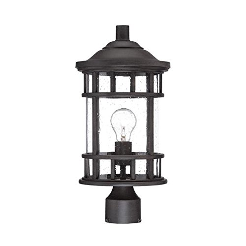 Acclaim 31947BC New Vista Collection 1-Light Outdoor Light Fixture Post Lantern, Black Coral by Acclaim