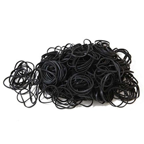 Dissipative Black Rubber Bands, 1/8 x 3'', 450-500 per Bag