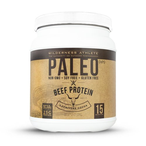 Wilderness Athlete Paleo(ish) Beef Protein, Carnivore Cocoa, 15.1 Ounce (Best Protein For Athletes)
