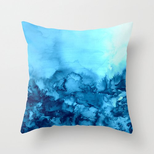 PILLO Throw Pillow Covers Of Euro Style 18 X 18 Inches / 45 By 45 Cm,best Fit For Bar,kids,wedding,study Room,lounge,gril Friend Two Sides (Navy Blue Flowered)