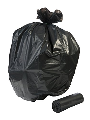 (TLD-71BL, 60 Gallon, EXTRA Heavy Duty Contractor Bags, 50 count With Ties, 3 Mil Thick Low Density, BLACK, 38x60 inches, MADE IN USA)