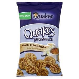 Quaker Quakes Vanilla Creme Brulee Rice Snacks 3.5 oz
