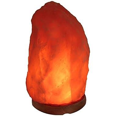 IndusClassic LN-08 Himalayan Crystal Rock Salt Lamp Natural Air Purifying, 14-17 Pounds