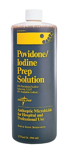 (Medline MDS093947 Latex Free Povidone Iodine Scrub Solution, 32 oz (Pack of 24))