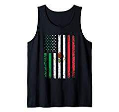 Mexico USA Flag design to gift to friends and family. Mexico flag embedded in the USA flag to support your local Mexican. Wave your Mexican flag while wearing this apparel proudly on rallies on 4th of July or Cinco De Mayo! Proud Mexican Amer...