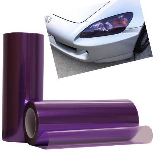 Glossy Purple Color Tint Headlights Fog Lights Vinyl Film Wrap - 12