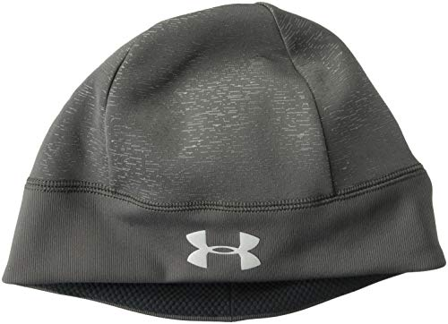 Under Armour Winter Beanie - Under Armour Men's Storm Run Beanie, Charcoal (019)/Silver, One Size Fits All