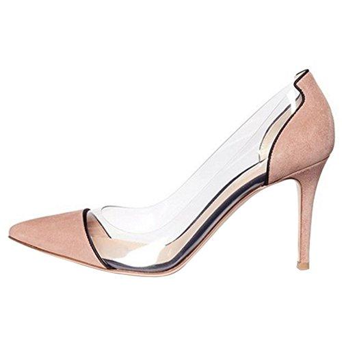 Mode Pumps Slip Damen Schuhe Stiletto On COOLCEPT 84q5wt