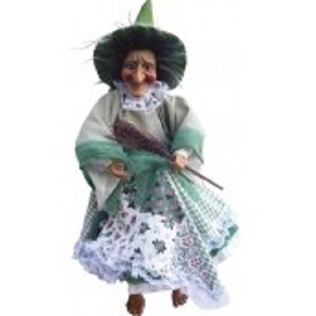 Witches of Pendle - Willow Witch Flying (Green) 25cm -