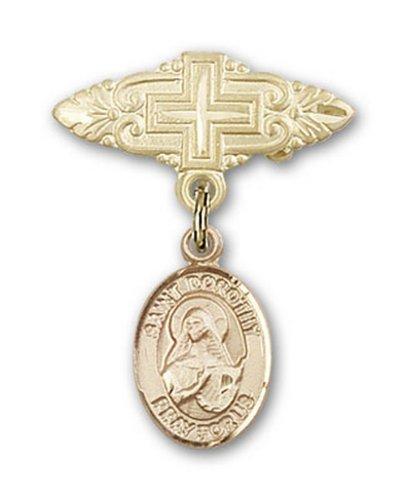 Icecarats Or Bijoux De Créateurs Rempli R. Dorothy Broche De Badge Charme Avec Une Croix X 3/4