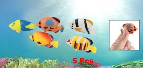 Amazon.com: eDealMax DE 5 piezas acuario de peces de cola plástica flotante adornos, Colores surtidos: Electronics