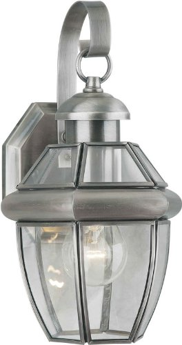 Forte Lighting 1101-01 Outdoor Wall Sconce from the Exterior Lighting Collection, Antique Pewter