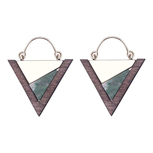 (Cute Geometric Earrings Solid Color Semi-Precious Stones Colorful Compact Multi-Color Earrings (B))
