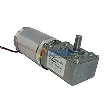 24vdc 50 Rpm High Torque Drive Pmdc Worm Geared Motor With