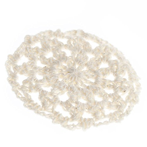 """2"""" Petite Ivory Round Cotton Hand Crocheted Lace Doilies, Set of 12"""