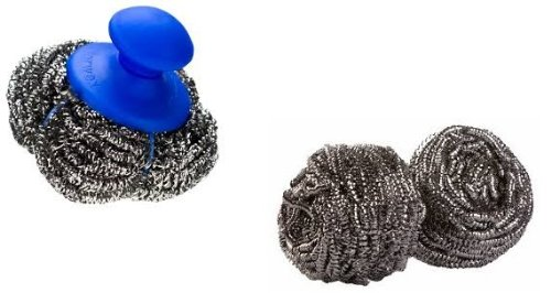 Norwex Mighty Mesh Pot Scrubber and Spirinetts Set; Stainless Steel Scouring Scrubber