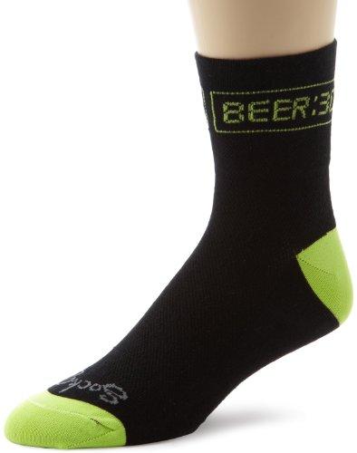 SockGuy Men's Beer 30 Socks, Black, Sock Size:10-13/Shoe Size: 6-12