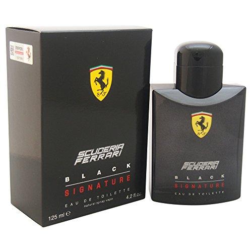 Ferrari Scuderia Black Signature Eau de Toilette Spray for Men, 4.2 ()