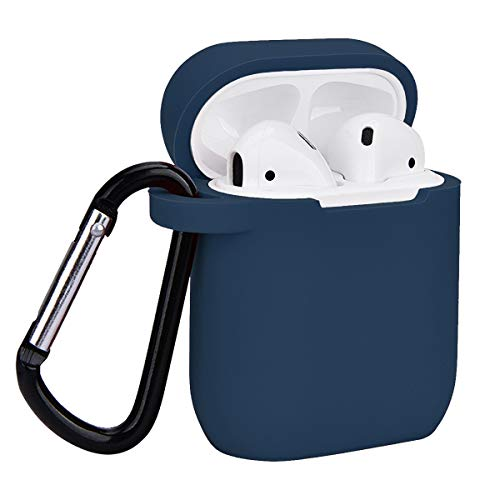 Airpods Case, Coffea AirPods Accessories Shockproof Case Cover Portable & Protective Silicone Skin Cover Case for Apple Airpods Charging Case (Navy Blue)