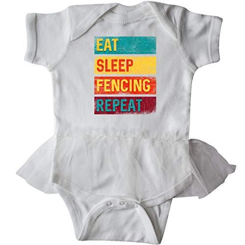 inktastic - Fencer Eat Sleep Fencing Infant Tutu Bodysuit 18 Months White 339aa