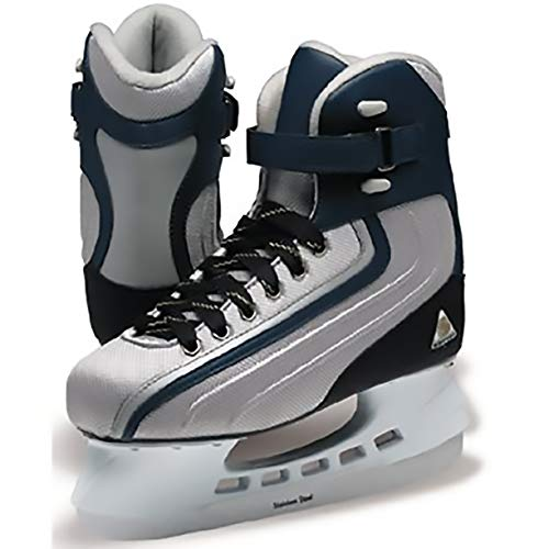 Softec Jackson ST5002 Sport Men's Leisure Ice Skates Thinsulate Lining Hockey Blade (Black/Platinum, - Jackson Softec Ice Skates
