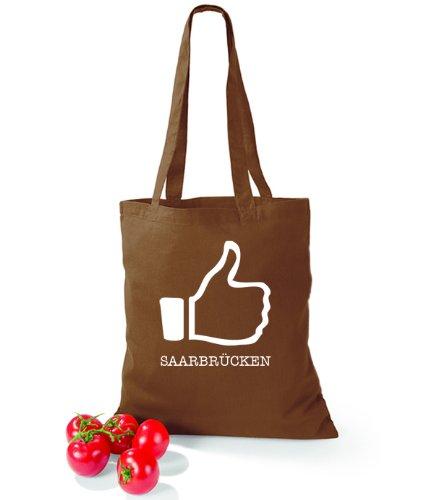 Artdiktat Baumwolltasche I like Saarbrücken Chestnut Qe6hKQhZFB
