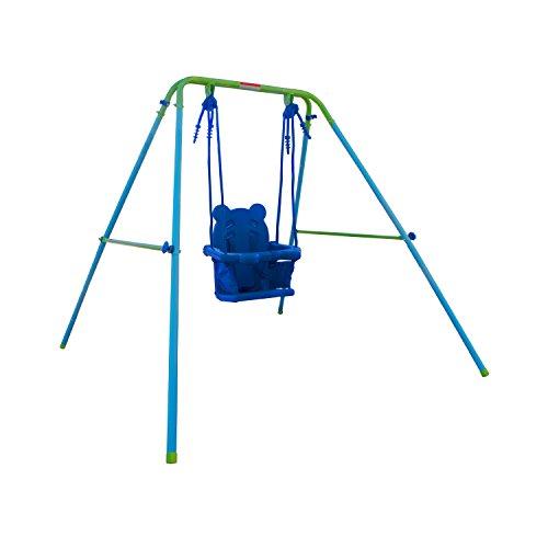 ALEKO BSW02 Child Baby Toddler Indoor Outdoor Swing Blue and Green