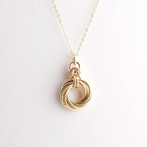 10 ring Byzantine Love Knot Necklace - Gold ()