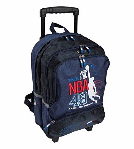 Sac à dos à roulettes NBA Noir 2FEzCi
