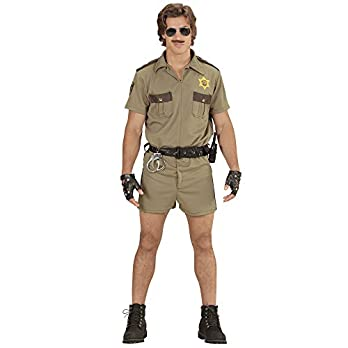 California Highway Patrol Officer Men's Costume Large for Cop Police Fancy Dress